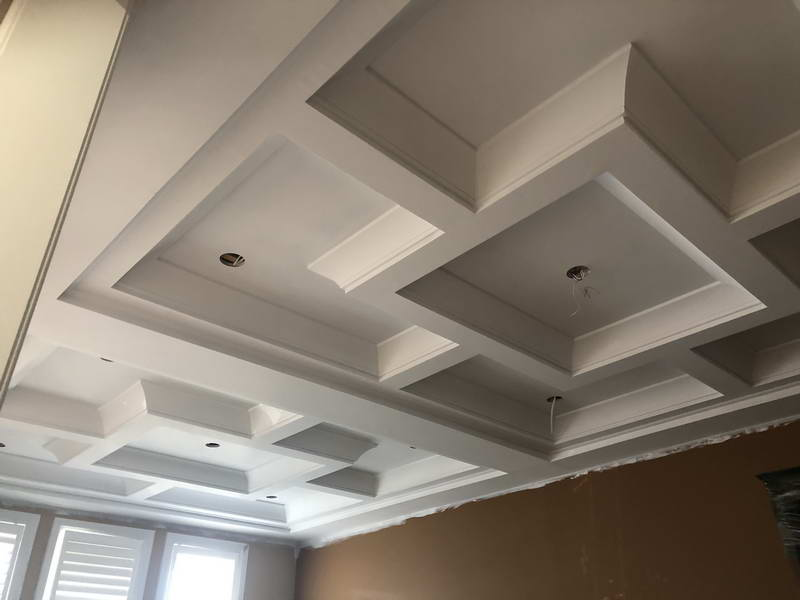 Custom coffered ceiling in GTA