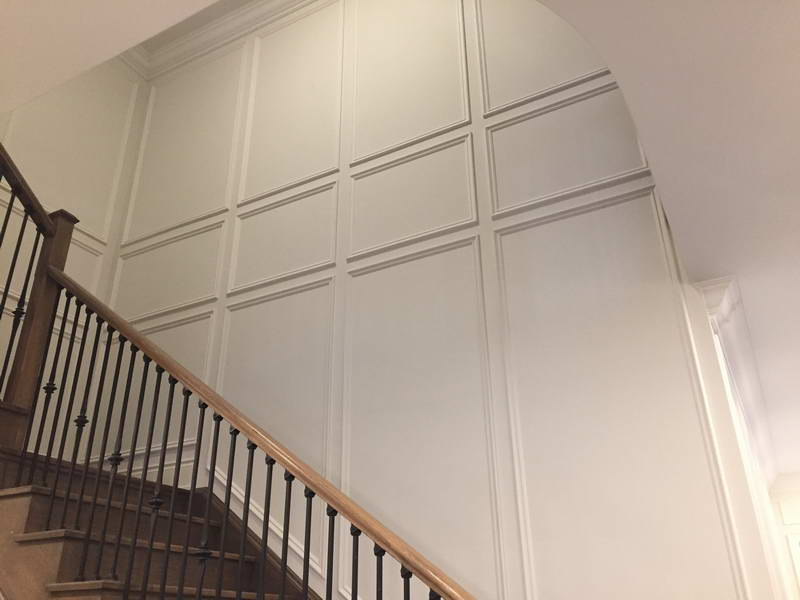 wainscoting staircase wall trim