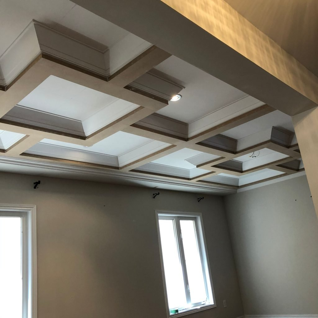 coffered ceiling decor