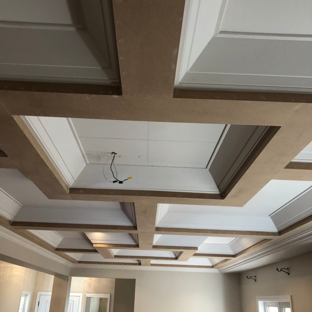 luxury waffle trim in the ceiling