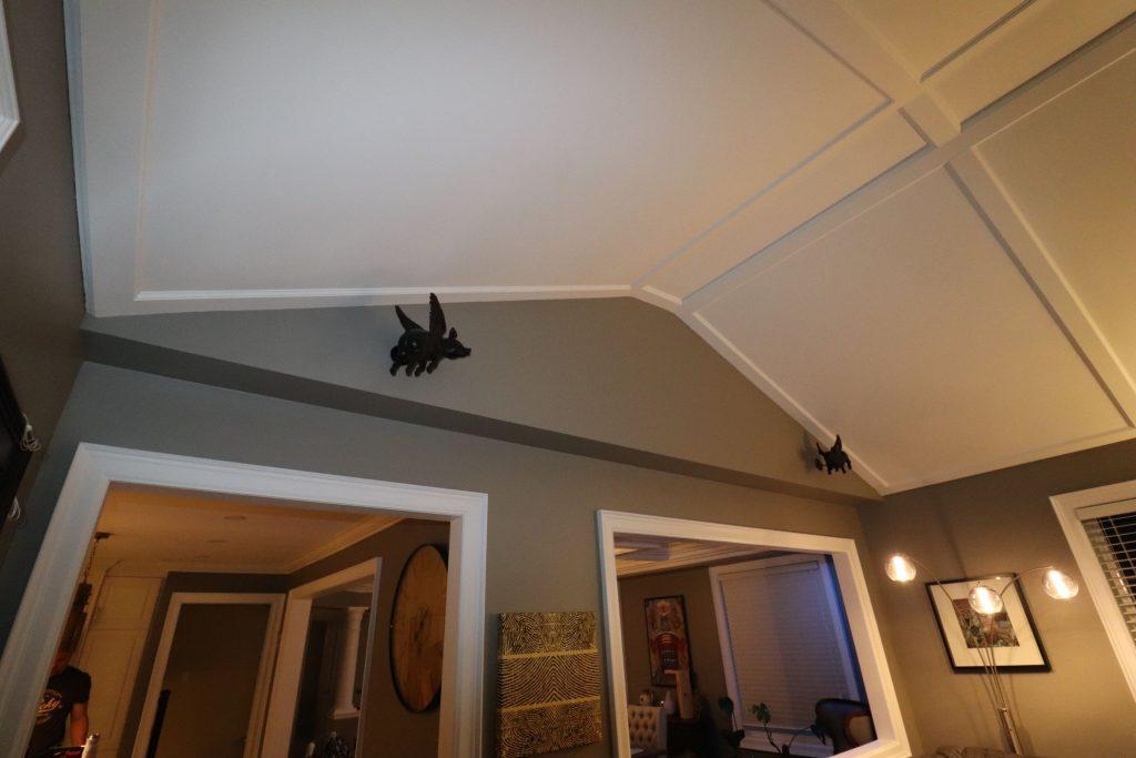 trim team work of custom waffle ceiling