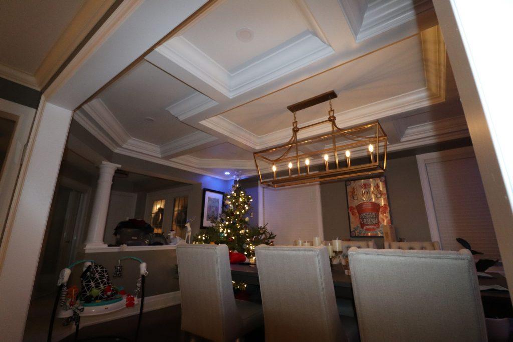 waffle ceiling installation by trim team