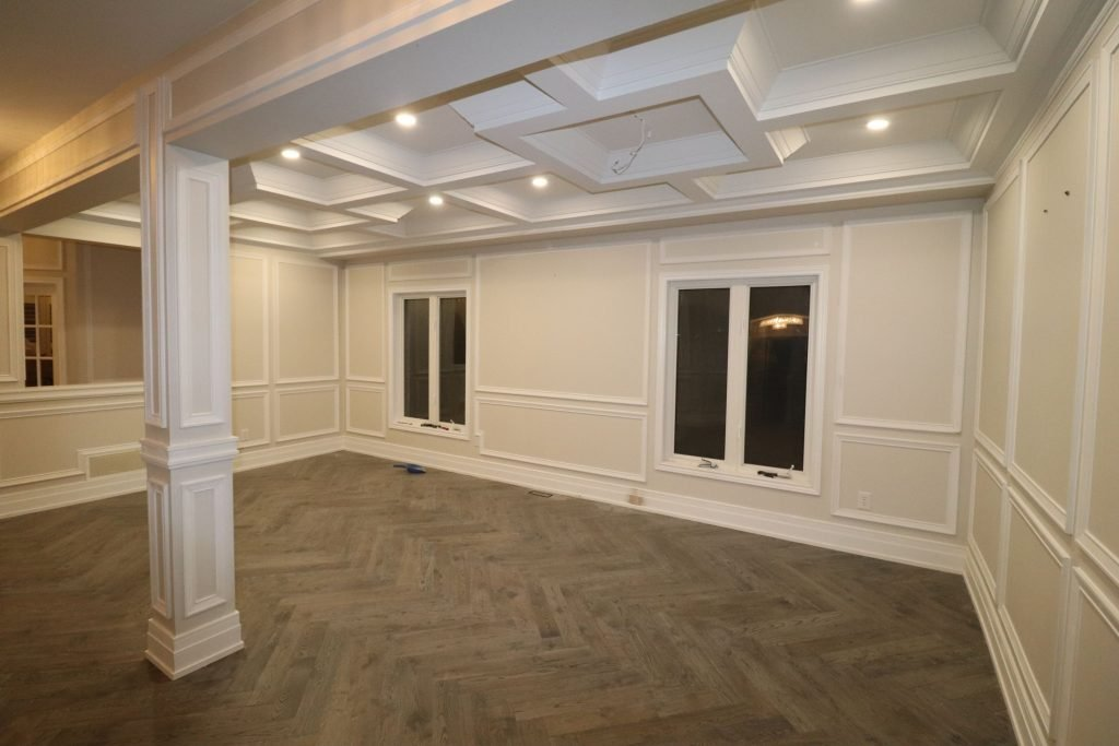 wainscoting installation in basement