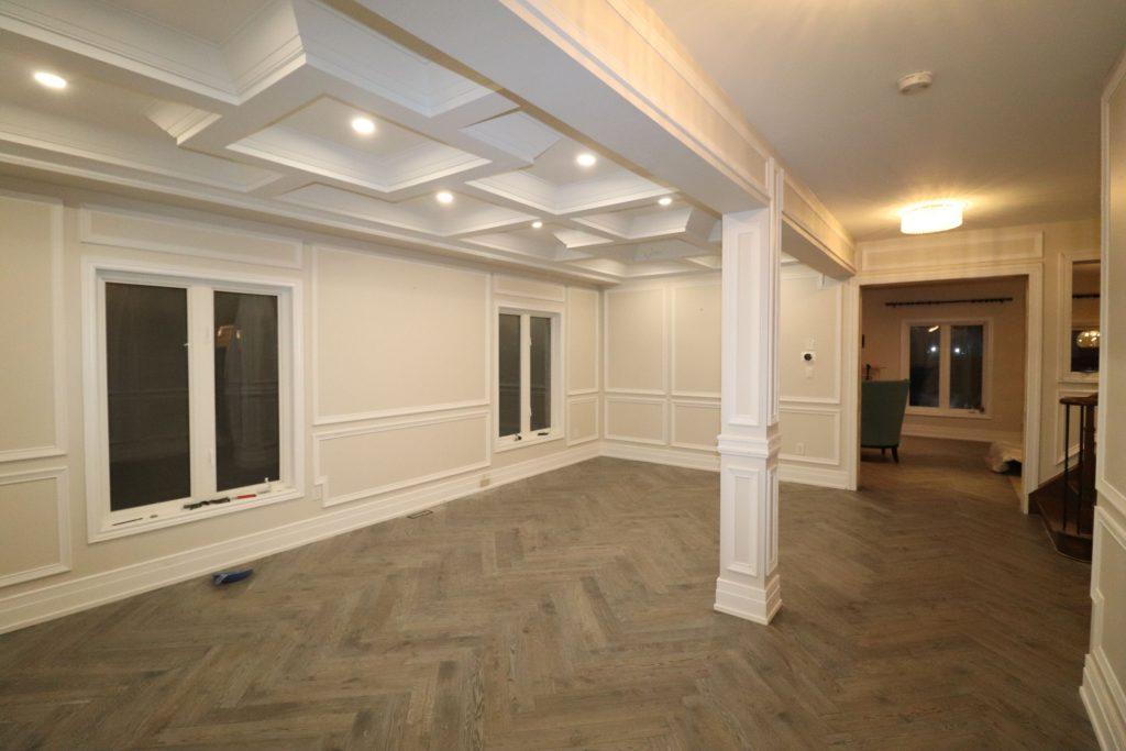 waffle ceiling installation by trim team GTA