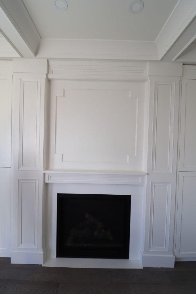 build in fireplace in custom living room