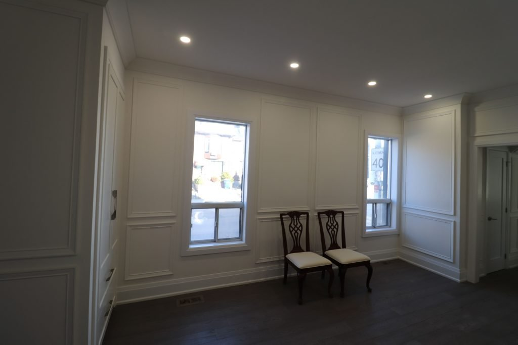 classic dining room with wainscoting wall decor