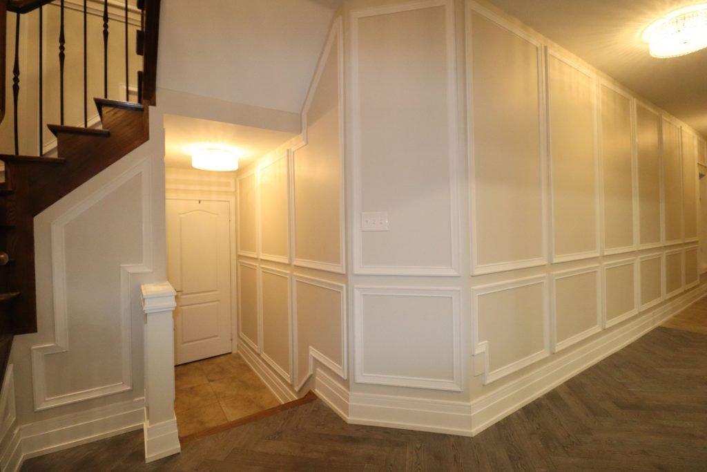 custom hallway with baseboard trim