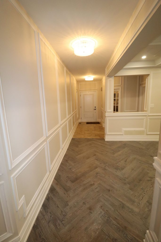 modern hallway with wainscoting wall décor