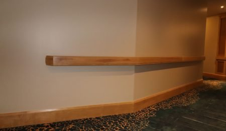 build in wooden railings by trim team toronto
