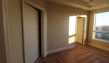 custom bedroom with baseboard trim