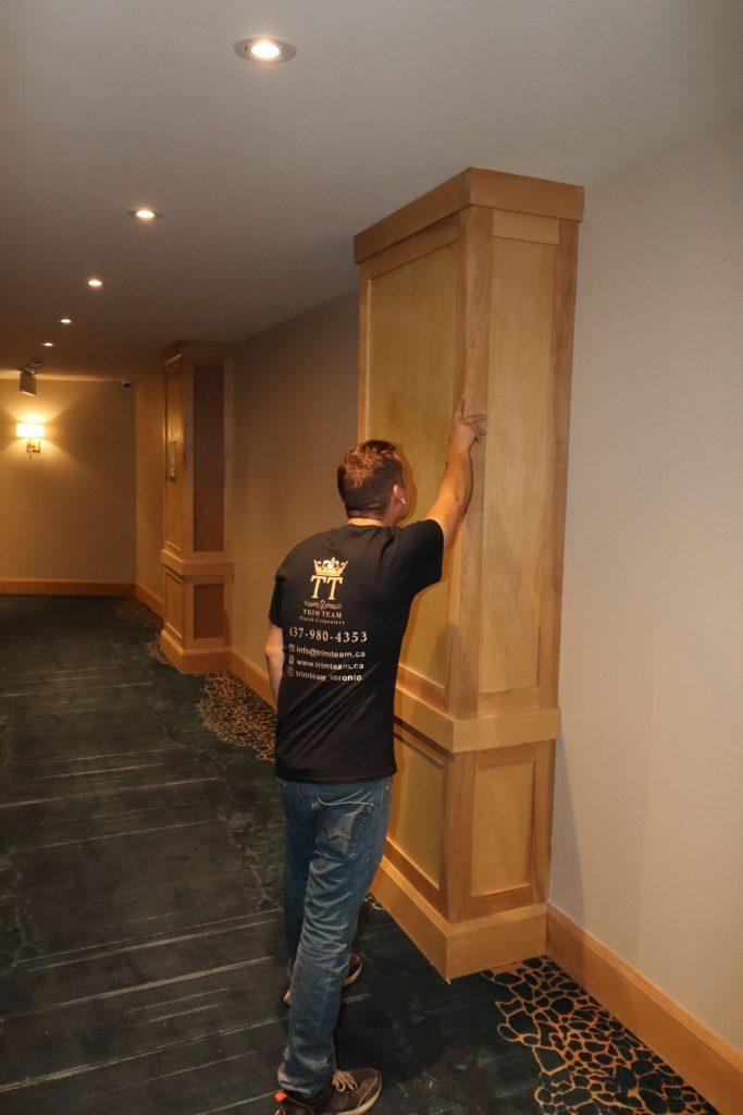 custom wooden Interior Column by trim team