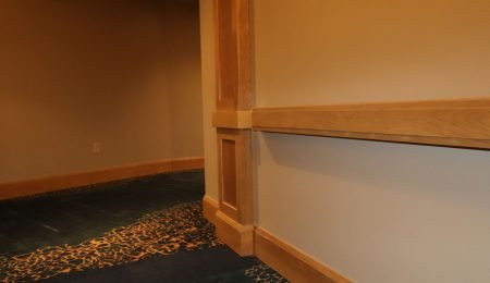 baseboard installation by trim team
