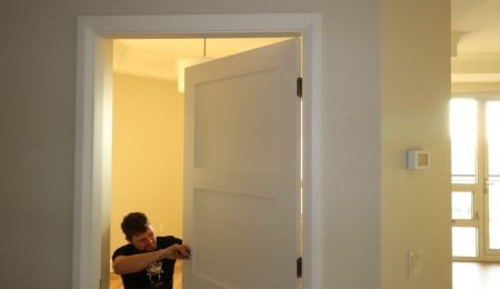 interior door installation by trim team