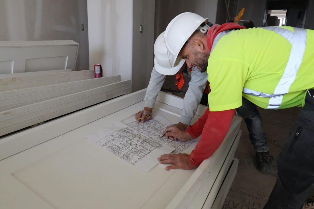 blueprint of trims for custom home